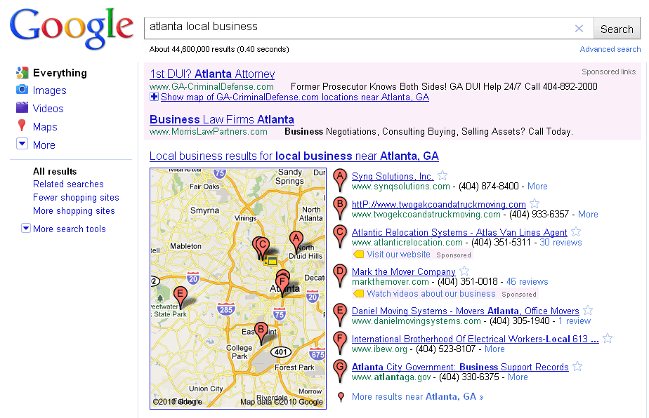 google-local-business-search